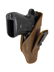 New Brown Leather Tuckable IWB Holster for Full Size 9mm .40 .45 Pistols (TU68-32BR)