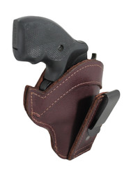 "New Burgundy Leather Tuckable IWB Holster for Snub Nose 2"" 22 38 357 41 44 Revolvers"