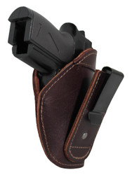 New Burgundy Leather Tuckable IWB Holster for Mini/Pocket .22 .25 .380 Pistols (TU68-4sBU)