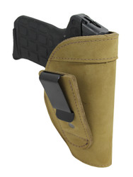 New Olive Drab Leather Tuckable IWB Holster for Small 380, Ultra Compact 9mm 40 45 Pistols (TU68-4OD)