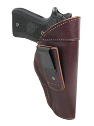 New Burgundy Leather Tuckable IWB Holster for Full Size 9mm .40 .45 Pistols (TU68-32BU)