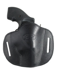 "New Black Leather Pancake Belt Slide Gun Holster for 2"" Snub Nose Revolvers (#56BL)"