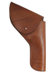 "New Brown Leather OWB Flap Holster for 4"" Revolvers (FL4BR)"