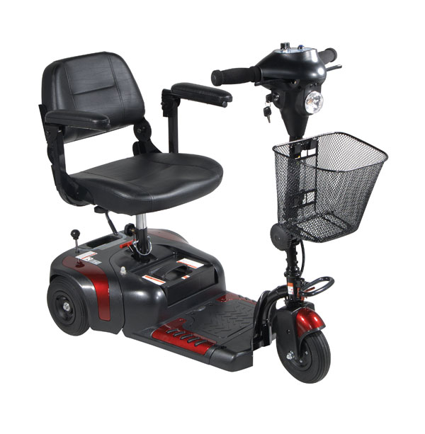 3 Wheel Mobility Scooters from Drive Medical and eWheels. 3 Wheel power scooters with superior turning radius