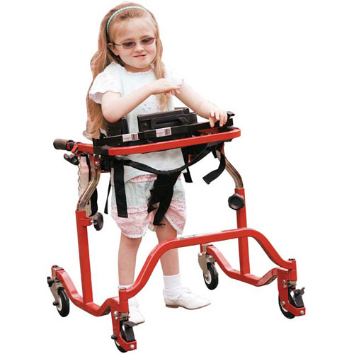 Walking aids like gait trainers available for adults and children.