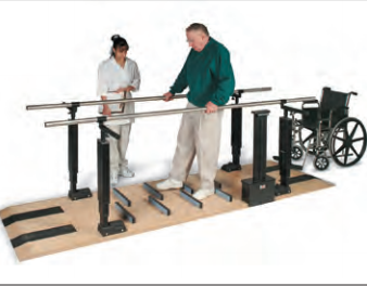 Products designed to aid in the physical therapy process like CPM machines, parallel bars, loser body ergometers, and more