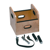 Work Hardening Sled or Cart Lifting Box with Accessory Handles