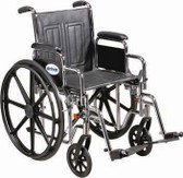 18-inch Fixed Arm Wheelchair With Swing Away Elevated Legrest