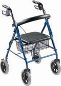 4-Wheel Loop Brake Rollator Walker