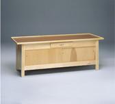 Enclosed Wooden Treatment Table, Doors, Drawer, Raised Rim Top