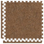 Alessco Light Brown SoftCarpets Foam Rubber Backed Commercial Carpeting