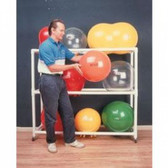 PVC Mobile Floor Rack for Inflatable Exercise Ball (62 x 20 x 72 inches, 3 Shelf)