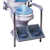 Toilet Support System Footrest and Armrest (Accessory)