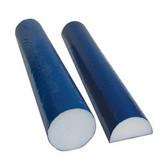Cando PE Foam Round Roller (Blue TufCoat, 4 x 36 inches)