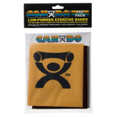 Cando Low Powder Exercise Band Pep Pack (Challenging)