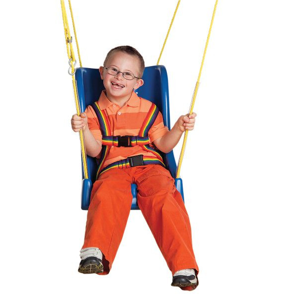 SKILLBUILDERS® FULL SUPPORT SWING SEATS WITH ROPE, LARGE