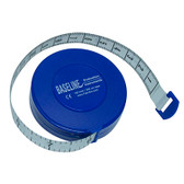 Baseline woven measurement tape with push-button retractor, 120""
