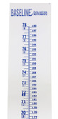 "Baseline Wall Growth Chart, Measurement Range: 0-78"" (0-198 cm)"