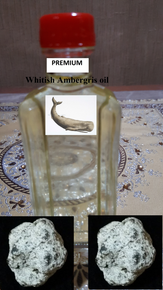 Premium Whitish AMBERGRIS oil-non alcoholic (3cc)