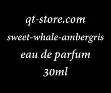 30 ml of Sweet Whale Ambergis eau de parfum