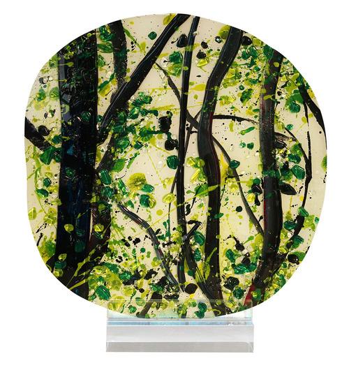 Jasmine Art Glass decorative plate
