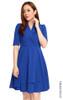 Tuxedo Flare Dress - Blue