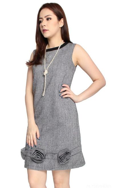 Rosette Shift Dress