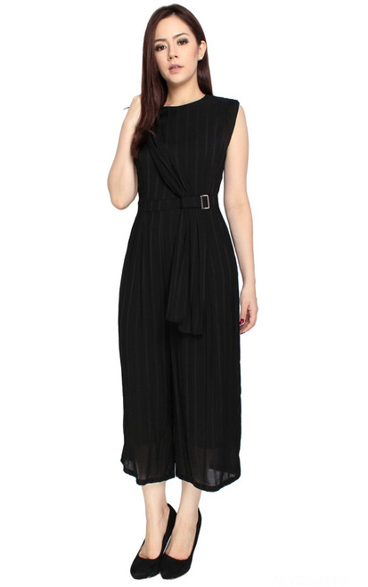 Side Drape Jumpsuit