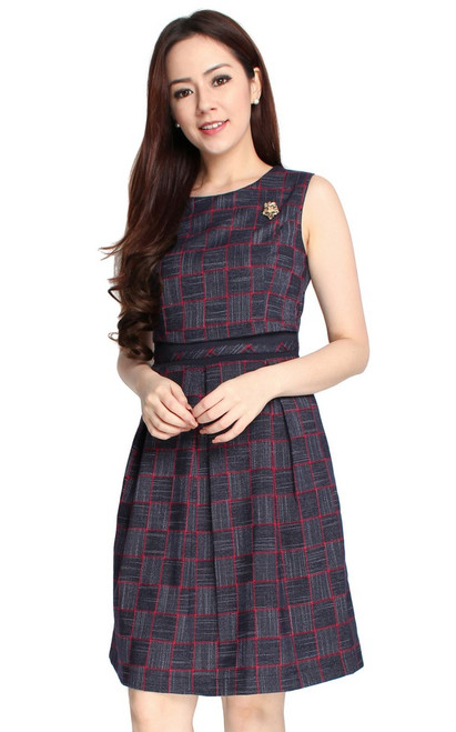 Checkered Dual Layer Dress
