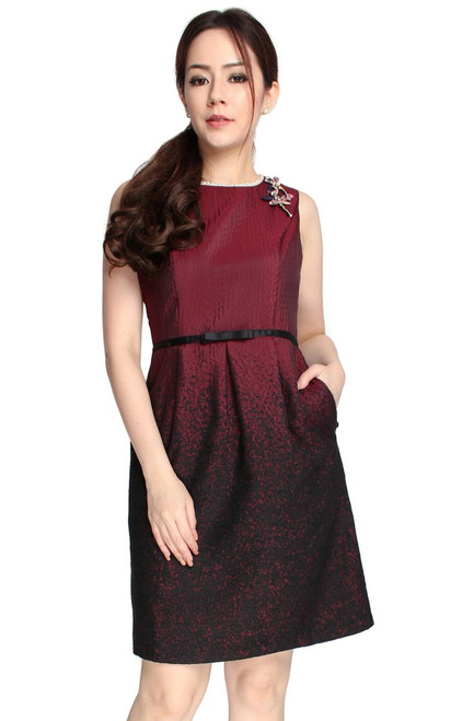 Gradient Jacquard Dress
