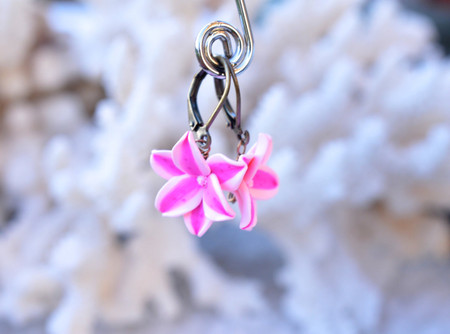 Stargazer Lily Simple Dangle Earrings