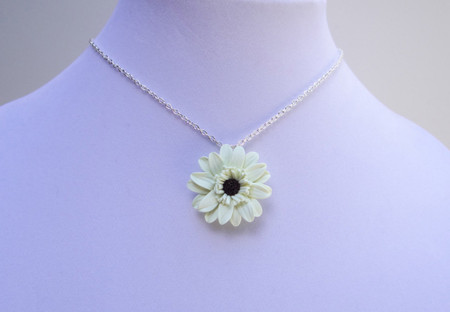 Gerbera Daisy Simple Drop Necklace
