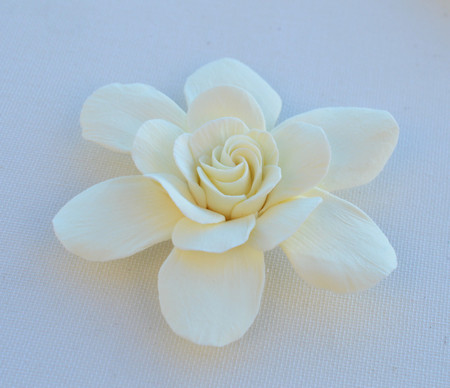 Gardenia Hair Clip in Ivory. LARGE