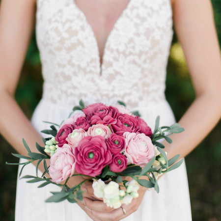 Pink Ranunculus Flower Bouquet