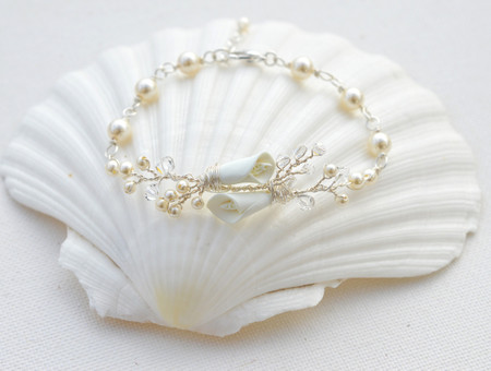 Mayra Vine Bracelet  in Ivory Calla Lily