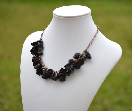 Lucinda Garden Necklace in Black Rose