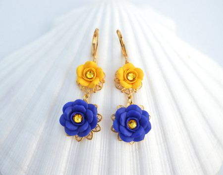 Golden Yellow and Cobalt Blue