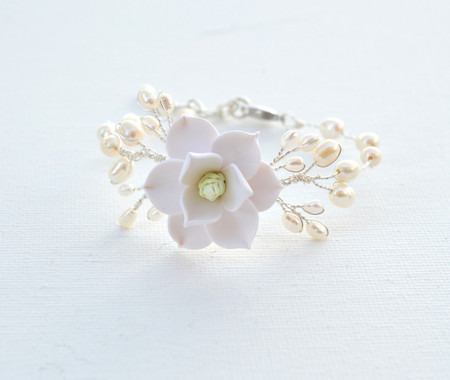 Kelly Vine Bracelet in White Magnolia