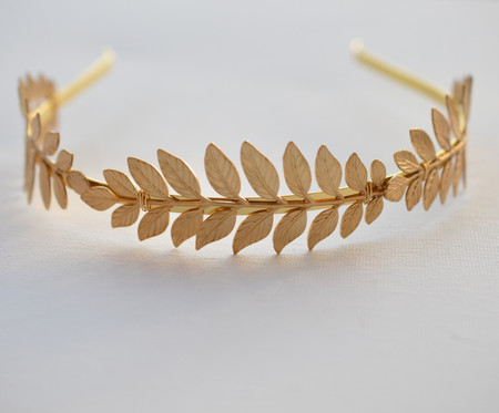 Brass Leaves Headband