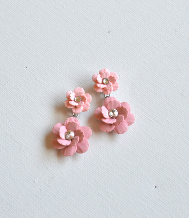 Lucy Statement Earrings in Pink Sakura Blossom/ Cherry Blossom