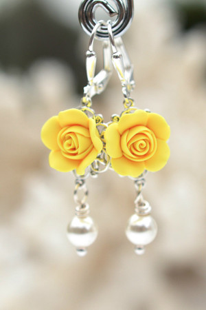 Tamara Statement Earrings in Sunshine Yellow
