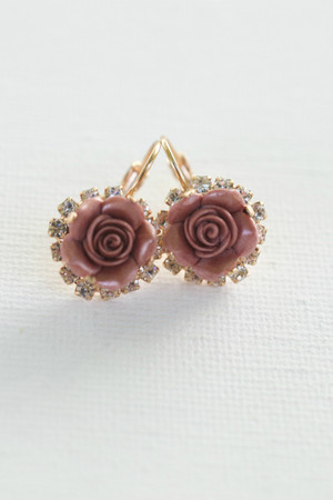 Renae Earrings in Rose Gold