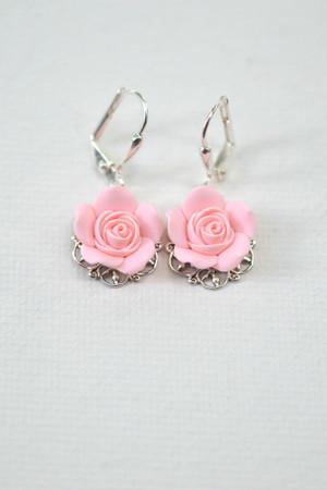 Riana Earrings in Blush Pink