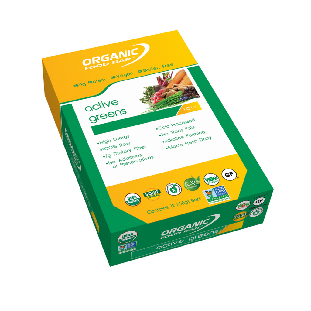 Organic Food Bar - Active Greens - Box of 12
