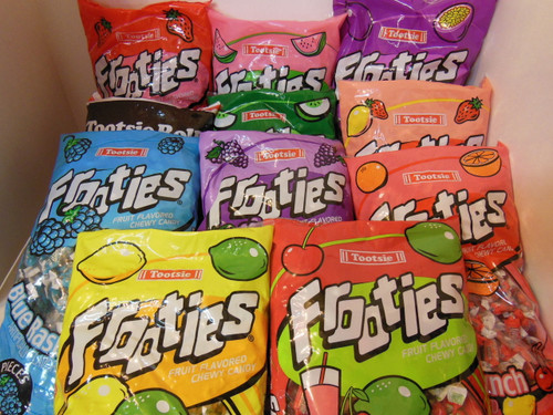 2 Lbs (about 300ct)  Frooties Flavored Tootsie Roll Uchoose mix Pinata Party 1970's Nut Free