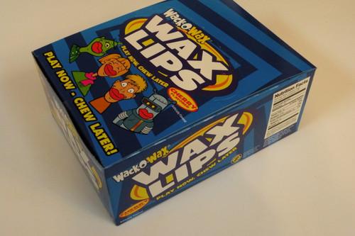 WACK-O-WAX Retro Cherry Wax Lips Bulk Full Box of 24