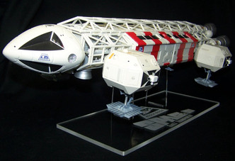 """Acrylic display stand for the MPC 22"""" Space 1999 Eagle Transport"""