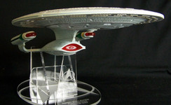 Playmates Enterprise D acrylic display stand