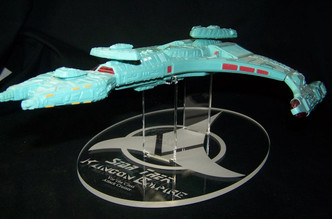 Display stand for Playmates Klingon Attack Cruiser
