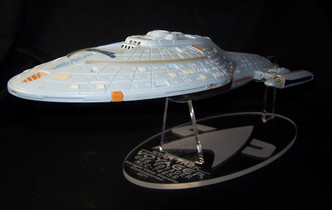acrylic display stand for Playmates Star Trek USS Voyager